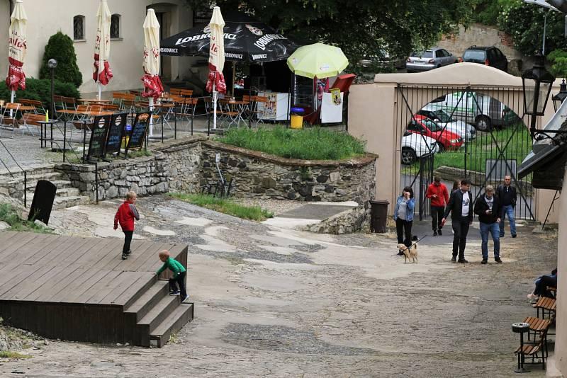 Hrad Střekov v Ústí nad Labem.