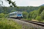 Stav před rekonstrukcí železniční trati u České Lípy, od sesuvů tam musely vlaky projíždět úsek 400 metrů rychlostí 10 km/hodinu. Na opravenou trať se vrací již od soboty 14. prosince 2020. Dokončovací práce ještě ovlivní provoz na jaře.