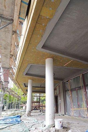 Za několik málo dnů skončí první část rekonstrukce kina Máj, stavby slavného architekta.