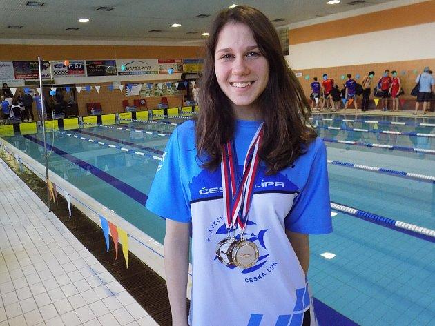 Čtyři medaile vybojovala vKopřivnici Daryna Naboichenko.