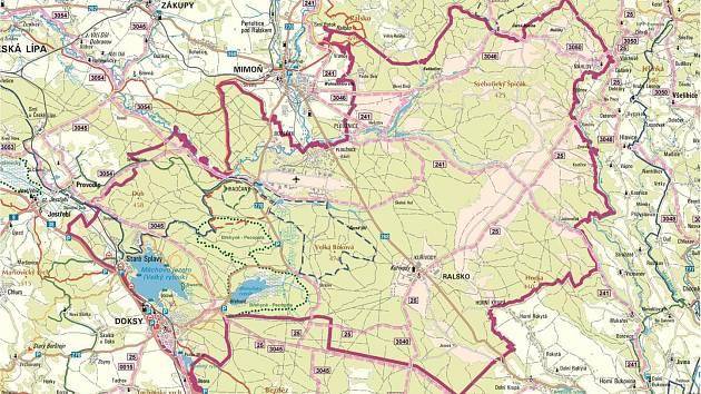 Mapa Geoparku Ralsko.