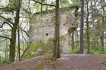 Zřícenina hradu Vítkovec se nalézá na výšině mezi Holanským a Milčanským rybníkem.