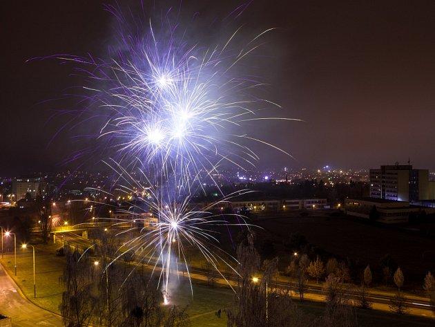 Novoroční oslavy v České Lípě.