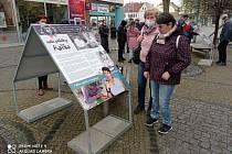 Výstava se nachází na náměstí Dr. E. Beneše v České Lípě. Návštěvníci si ji tu mohou prohlédnout do konce května.