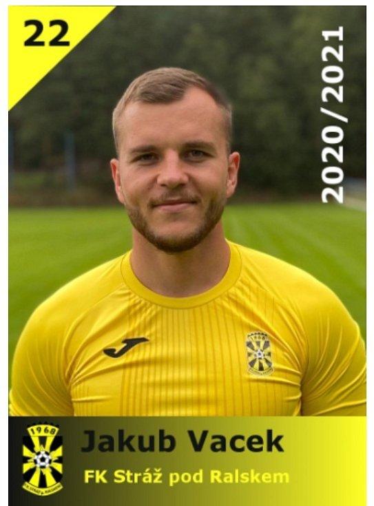 Jakub Vacek aktuálně hraje krajský přebor za FK Stráž pod Ralskem.