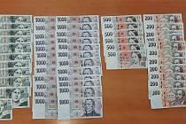 Nalezené peníze.