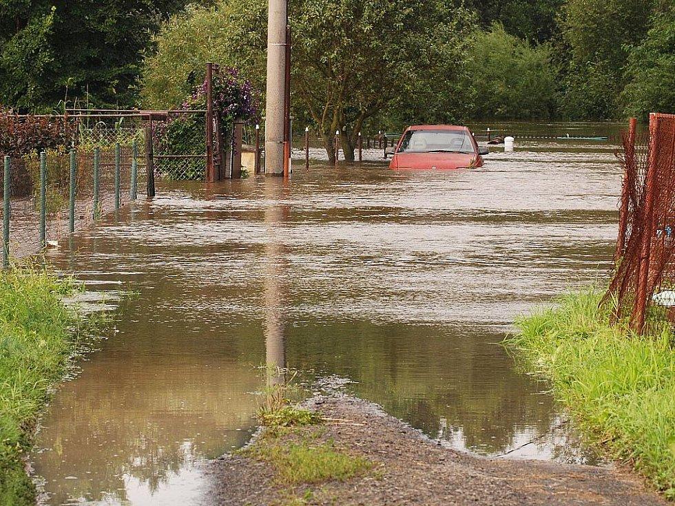 Povodně na Českolipsku – Jezvé.