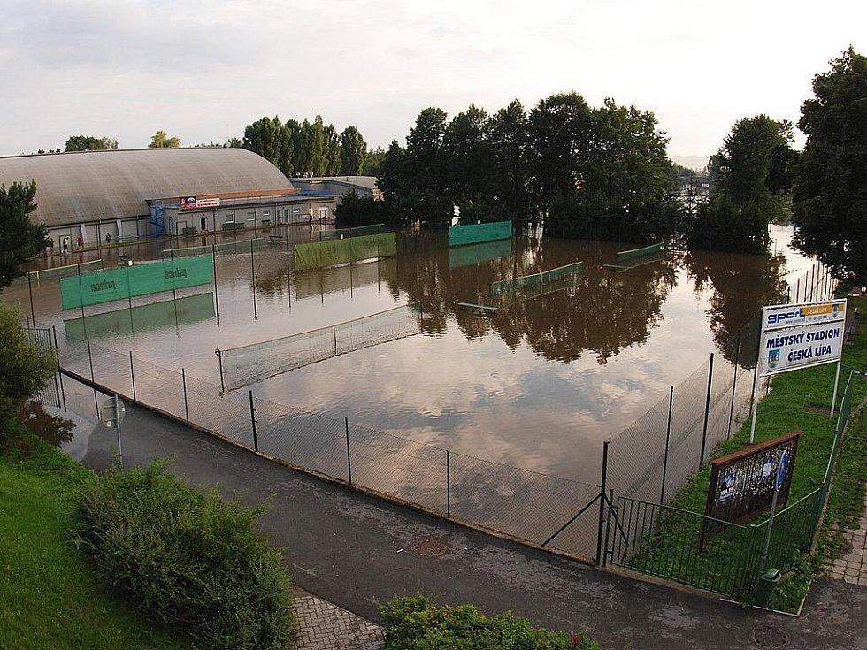 Povodně na Českolipsku – Česká Lípa.