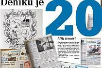 Českolipský deník vychází pod tímto názvem přesně dvacet let. Za tu dobu se hodně změnilo nejen v naší zemi, ale také v novinařině.