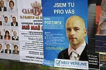 """Václava Podzimka, """"čtrnáctky"""" Věcí veřejných záměrně zastínily reklamy hned několika stran, které se budou ucházet o přízeň Českolipanů v blížících se komunálních volbách."""