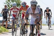 Jakub Svoboda (v popředí) a Rudolf Reichelt (v červeném) dominovali letošnímu ročníku Maratonu.