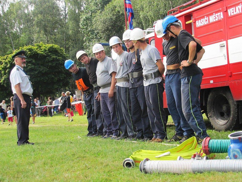 Soutěž hasičských družstev ve Stráži pod Ralskem.