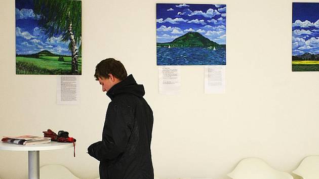 Obrazy a obrázky malované akrylem zachycují krajinu Českolipska.