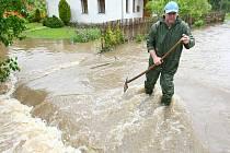 Voda v neděli zaplavila také Horní Libchavu.