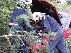 Sbor dobrovolných hasičů z Mimoně v akci.
