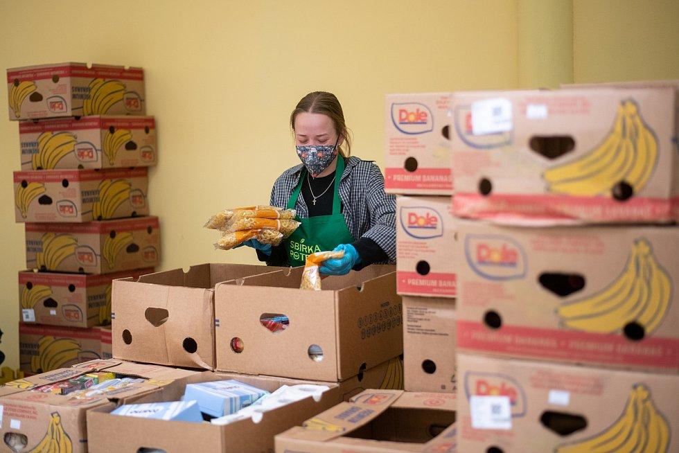 Česká Lípa supermarket Albert Farní charita sbírka potravin