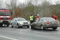 Páteční dopravní nehoda u Dobranova.