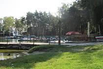 Pobřeží Máchova jezera ve Starých Splavech.