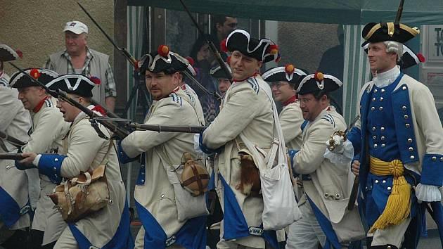 Bitva mezi pruskou a rakouskou armádou byla hlavním lákadlem sobotní akce Dobytí Kravař.