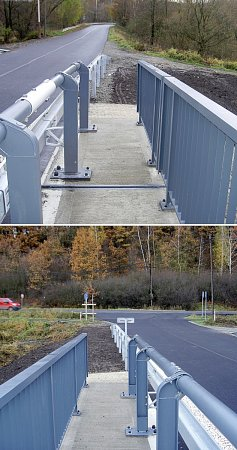Drobná chyba na kráse zdobí otevřený nově opravený most vŽizníkově uČ. Lípy. Prozatím se pěší musí obejít bez chodníku.