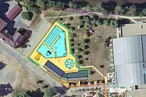 Venkovní bazén pro Českou Lípu vyroste v místech parkoviště před zimním stadionem v záplavovém území řeky Ploučnice.