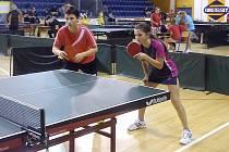 Dvojice žaček ZŠ Náměstí Nový Bor Natálie Nykodýmová a Klára Hanzelínová skvěle reprezentovaly na republikovém finále ve stolním tenise.