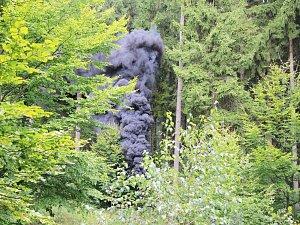 Hasiče prověřil požár lesní požár v Lužických horách