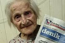 Volit bude v Mimoni i stoletá Anastázie Lorencová.