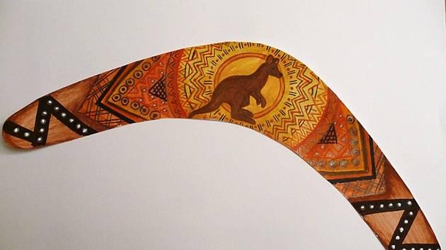 Vítězný návrh bumerangu Barbory Mackové.