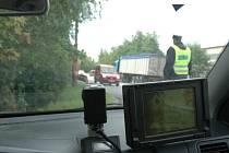 Radar přímo z policejního auta