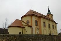 Barokní kostel sv. Jakuba Většího v Kvítkově z roku 1726.