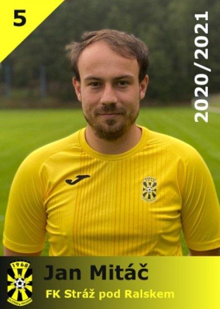 Jan Mitáč - kapitán FK Stráž pod Ralskem.
