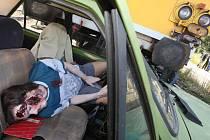 Cvičení záchranných složek, které se zaměřilo na rozpoznání a roztřídění zraněných při hromandé nehodě, proběhlo na nádraží v Brništi.