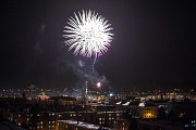 Českou Lípu ozářil novoroční ohňostroj.