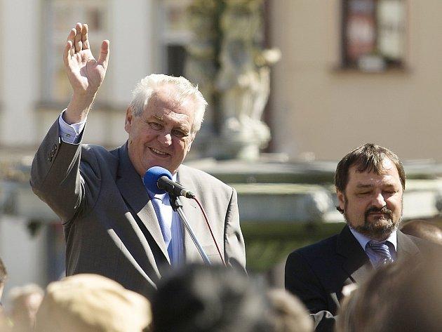 Prezident Zeman vystoupí v Novém Boru i České Lípě na rozlehlých prostranstvích.