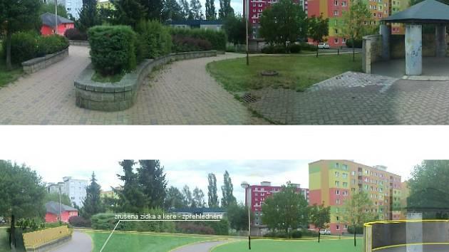 Návrh plánu na regeneraci českolipského sídliště Špičák.