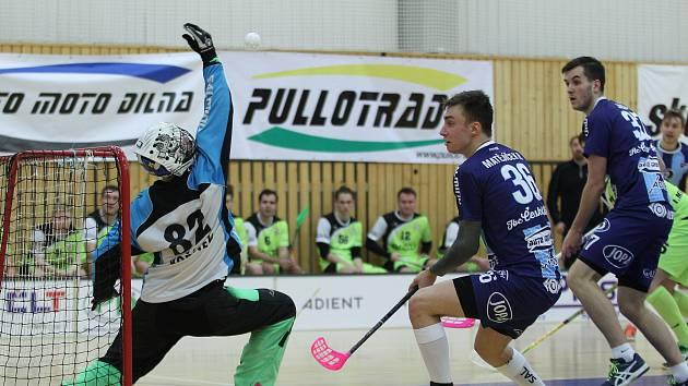 1. liga florbalu: Muži FBC PULLO TRADE Česká Lípa v domácím prostředí proti týmu 1. MVIL Ostrava WOOW potvrdili své kvality, zvítězili 7:3 a v tabulce si upevnili třetí místo.
