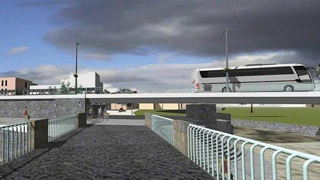 Vizualizace průtahu. Projekt by významně pomohl snížit dopravní zatížení centra města. Část obyvatel Mimoně ale záměr odmítá.