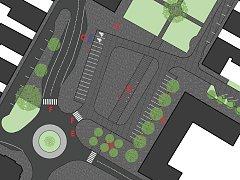 Návrh architektů Luboše Križana a Davida Urbánka působí vzdušně a snaží se navázat na předchozí etapy rekonstrukce náměstí.
