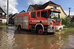 Povodně zaměstnaly i dobrovolné hasiče v Zákupech.