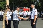 Devět nových příslušníků Hasičského záchranného sboru Libereckého kraje složilo ve čtvrtek 2. srpna 2018 svůj služební slib na nové stanici v Doksech.