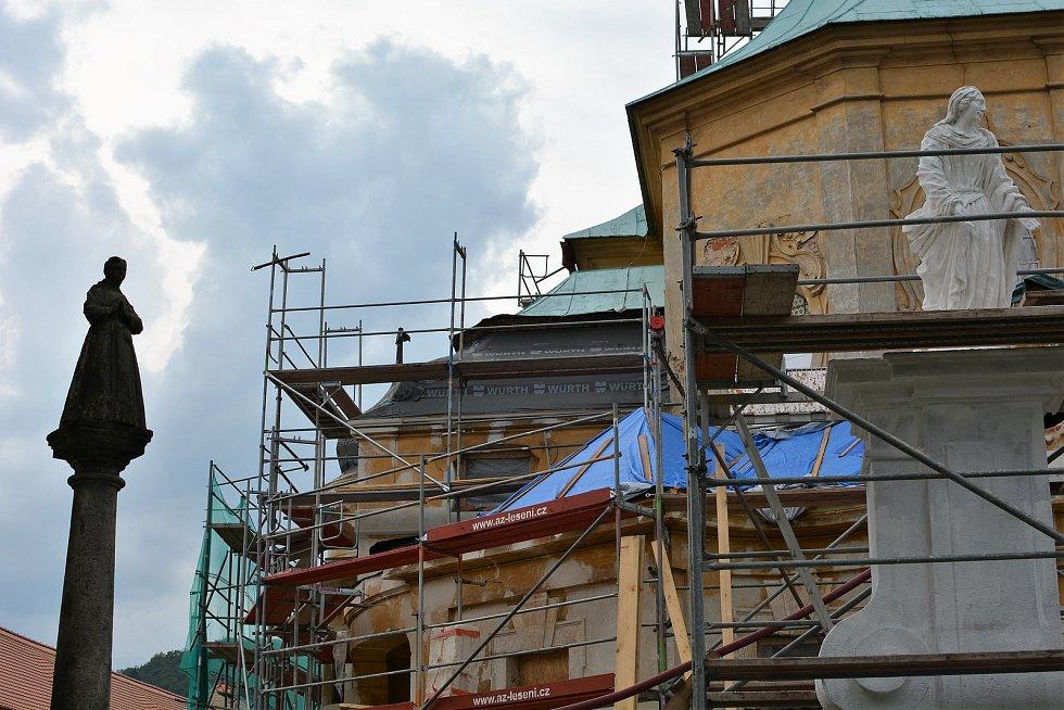 Rekonstrukce poutního kostela v Horní Polici