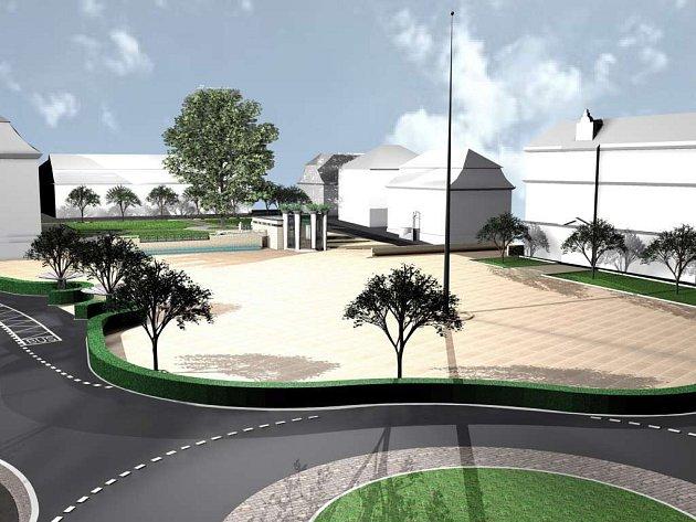 Šípkův původní návrh podoby novoborského náměstí je už dvanáct let starý. Vzešel z architektonické soutěže, kterou Šípek v roce 2001 vyhrál.