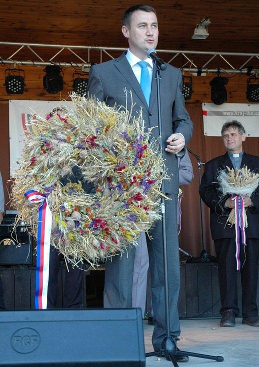 Slavnostní zahájení krajských dožínek v Brništi.
