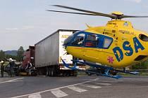 U nehody musel zasahovat vrtulník