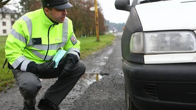 Policejní kontroly v Jestřebí.