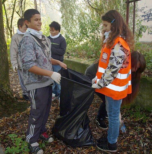 VČeské Lípě dobrovolníci čistili oba břehy řeky Ploučnice.
