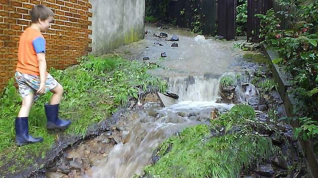 Nedávná povodeň v Kamenickém Šenově.