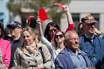 Prezident České republiky Miloš Zeman navštívil 11. května v rámci návštěvy Libereckého kraje město Doksy, kde se setkal s představiteli města a občany.