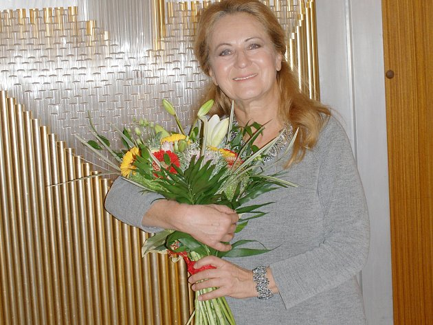 Simona Stašová v Kamenickém Šenově.